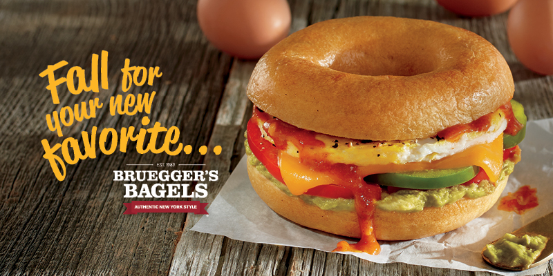 Traditional Harvest Flavors Abound in Bruegger's Bagels' New Fall Menu