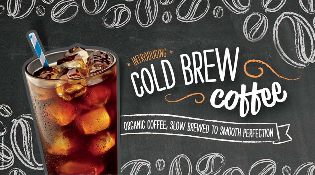 Cold Brew Coffee from Bruegger's Bagels new spring menu