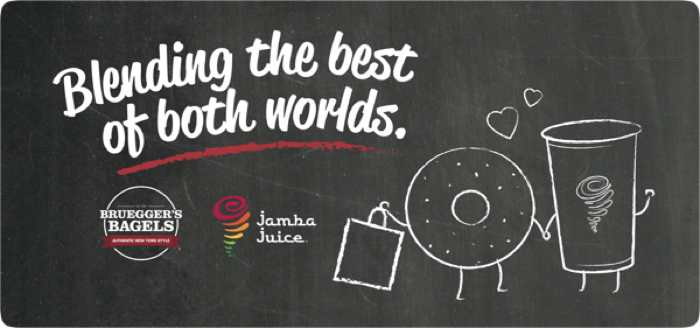 Bruegger's Bagels & Jamba Juice Announce Partnership of Co-Branded Stores