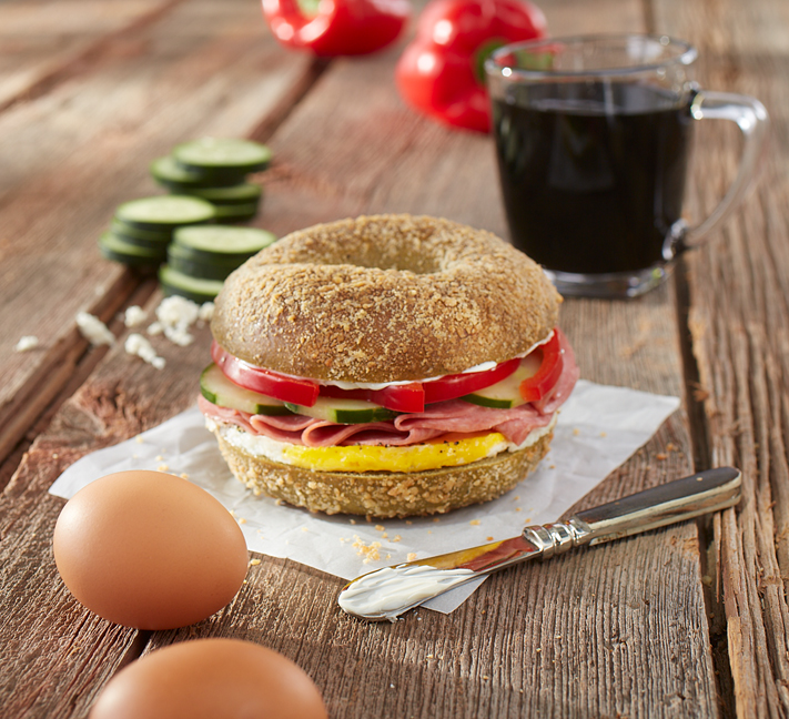 Mediterranean Sunrise (Breakfast Sandwich)