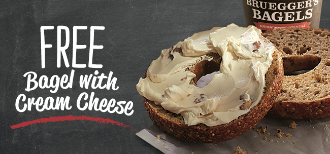 Free Bagel + Cream Cheese | Bruegger's Bagels