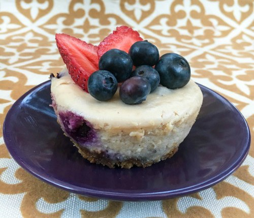 Mini Blueberry Cheesecakes Recipe | Bruegger's Bagels
