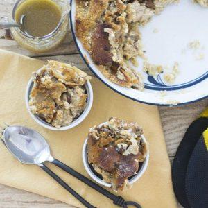 Recipe   Cinnamon Raisin Bagel Bread Pudding   Bruegger's Bagels