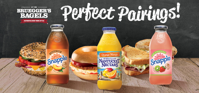 Free Snapple with Sandwich Purchase   Bruegger's Bagels
