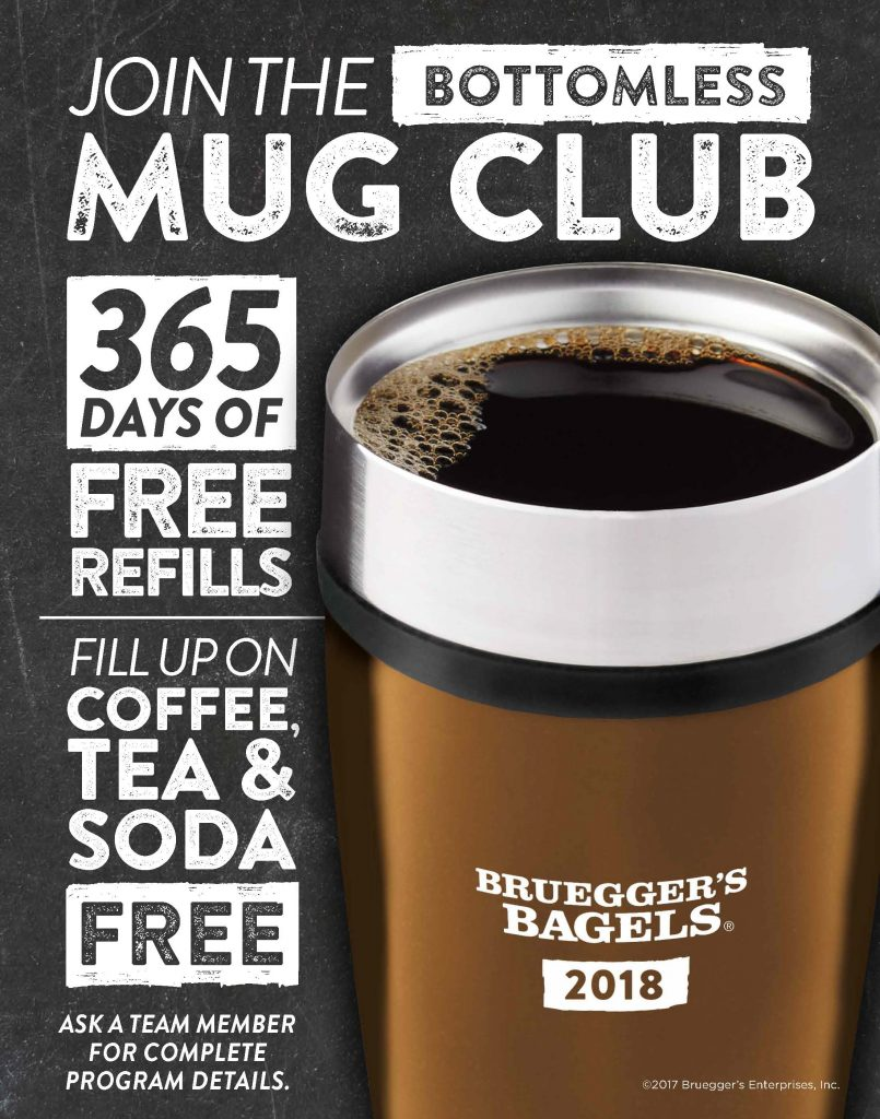 Bruegger's Bagels | Join the 2018 Bottomless Mug Club