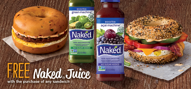 Free Naked Juice with Any Sandwich Purchase