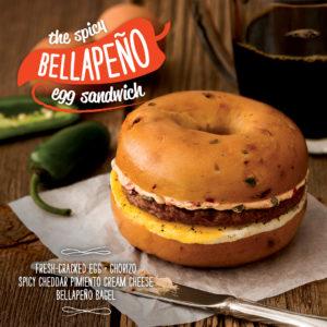 Spicy Bellapeño Egg Sandwich | Bruegger's Bagels
