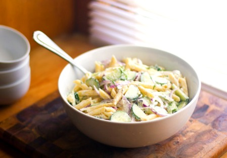 Cucumber & Dill Pasta Salad Recipe