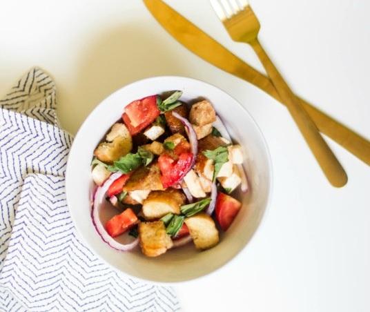 Recipe | Summer Panzanella Salad | Bruegger's Bagels