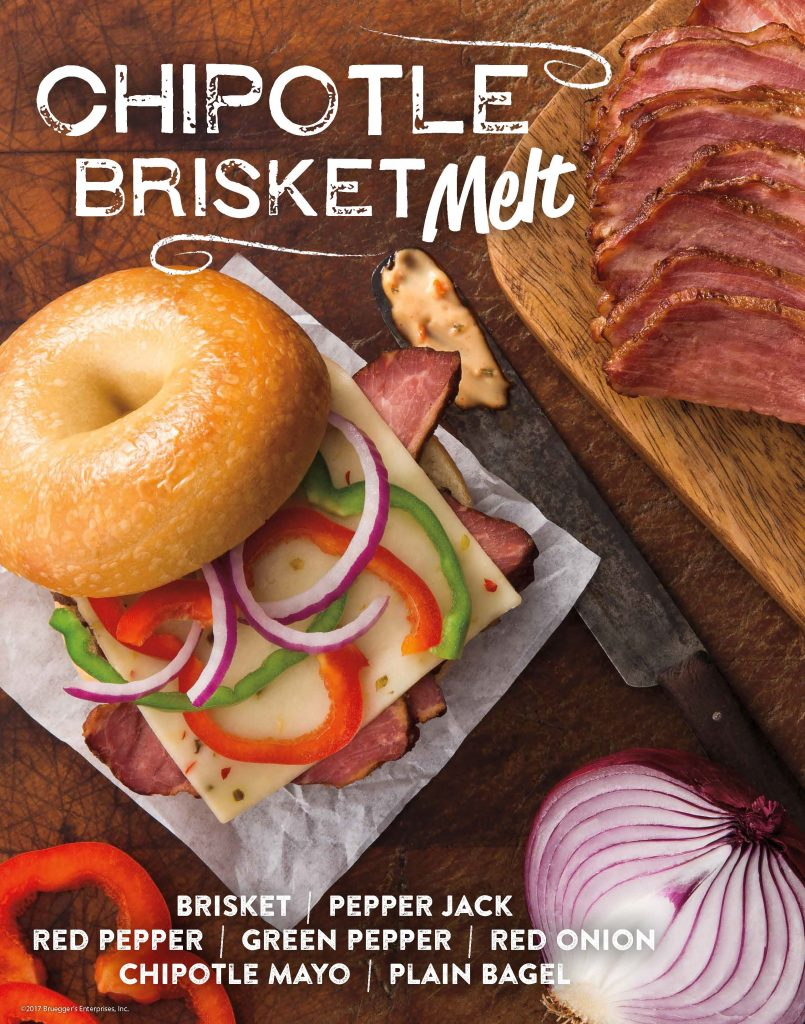 Bruegger's Bagels | Chipotle Brislet Melt | Fall 2017 Menu