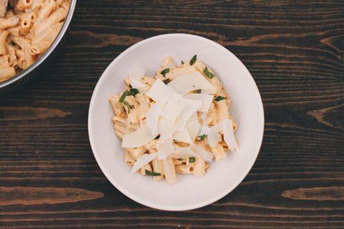 Pumpkin Cream Cheese & Sage Pasta