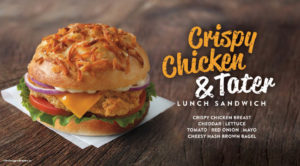 Crispy Chicken & Tater Lunch Sandwich