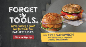 Promotion Free Sandwich with purchase
