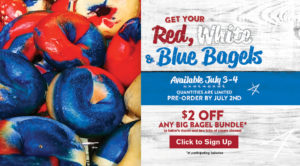Red, White, and Blue bagels are back! Inner Circle members get $2 off a Big Bagel Bundle.