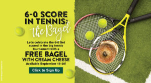 The U.S. Open had a bagel, so we are giving all Inner Circle members a bagel. Sign up by September 18th to receive.