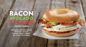 Try our all new Skinny Bacon Tomato, Avocado Sandwich with our signature sundried tomato spread.