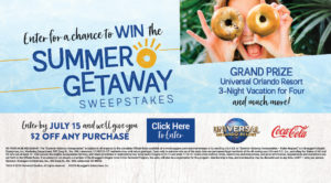 THe Summer Sweepstakes is back! Enter to win our summer geatway with the first prize receiving a three-night stay at Universal Orlando.