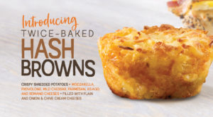 Picture of twice-baked hash browns by Bruegger's Bagels