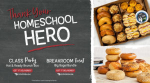 ROTATING SLIDER: CLICK to order a Brunch Box or Baker's Dozen Box for Delivery through DoorDash, for your Home School Hero (Teacher or Parent)