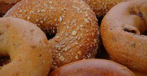 Closeup of bagels